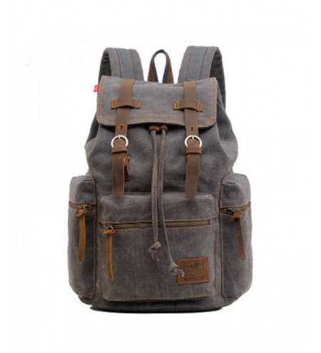 AUGUR Fashion Men Backpack Vintage Canvas School Bag Travel Large Capacity
