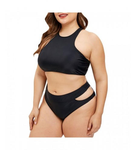 Plus Size Cut Out Racerback Bikini Set
