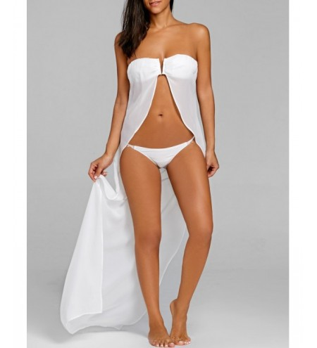 Strapless Bikini with Cover Up