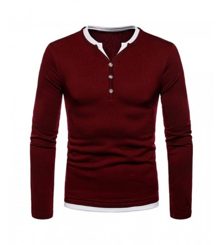 Fleece Half Button Long Sleeve T-shirt
