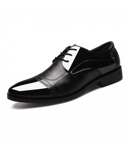 Leather Shoes Pointed Men Ballroom Dance Bureau Dress Shoes Man