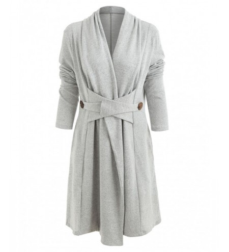 Open Front Button Long Duster Cardigan
