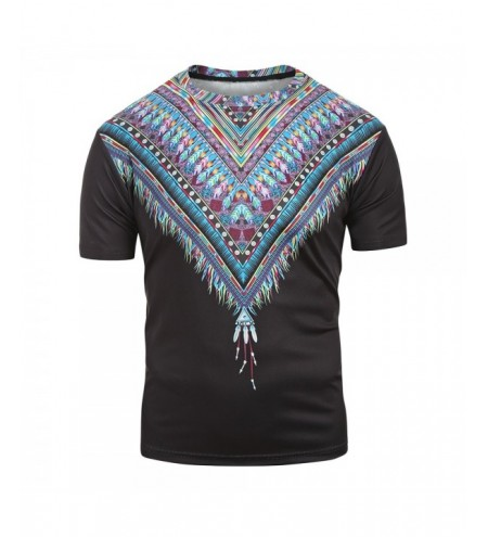 Tribal Print Short Sleeves T-shirt