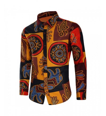 Button Up Tribal Print Long Sleeve Shirt