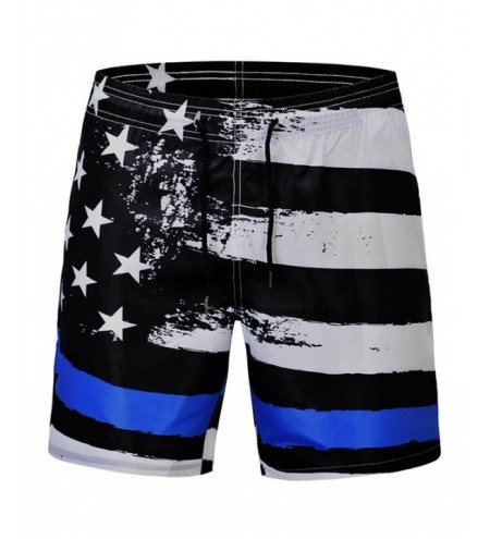 Stars and Stripes Print Quick Dry Beach Shorts