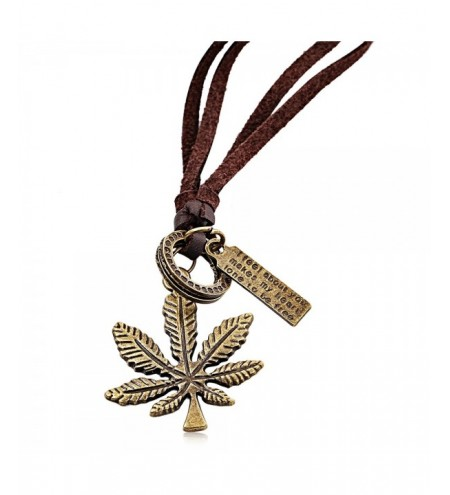 Leaf Pattern Embellishment Ladies Pendant Necklace