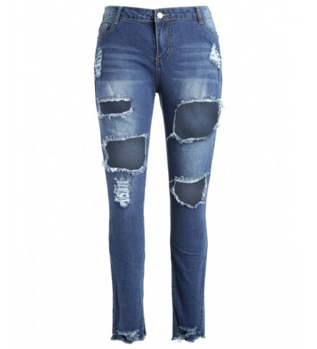 Fishnet Insert Plus Size Distressed Jeans