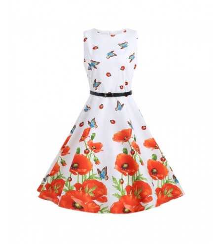 Floral A Line Sleeveless Dress