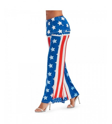 High Waisted American Flag Wide Leg Pants