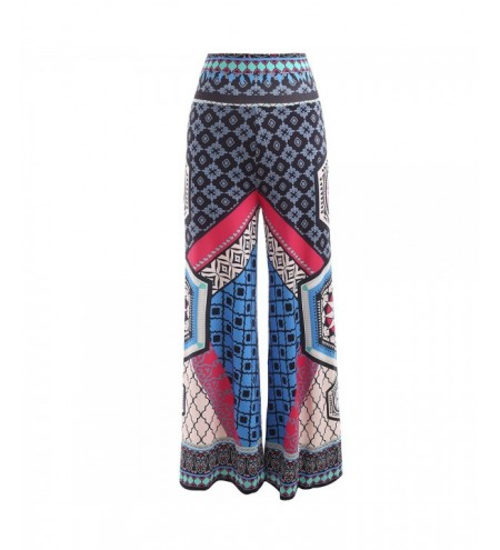 High Rise Ethnic Print Wide Leg Pants