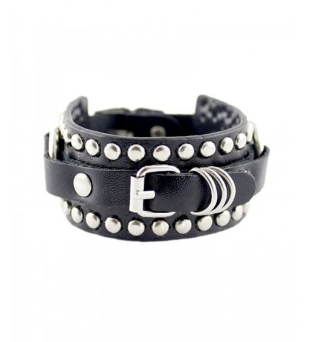 Rivet Belt Punk Rock Wrap Bracelet