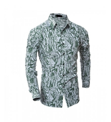Men's Fashion Casual Slim Camouflage Long-Sleeved Shirt