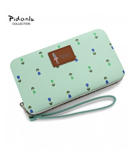 PIDANLU Flower Patterns Multifunction Women Clutch Wallet