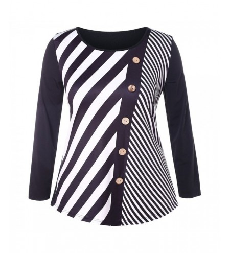 Plus Size Striped T-shirt