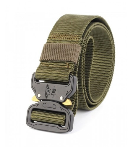 ENNIU Tactical Belt Heavy Duty Waist Belt Adjustable Military Style Nylon Belts with Metal Buckle