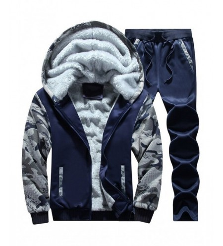 Flocking Camo Hoodie and Sweatpants Tracksuit