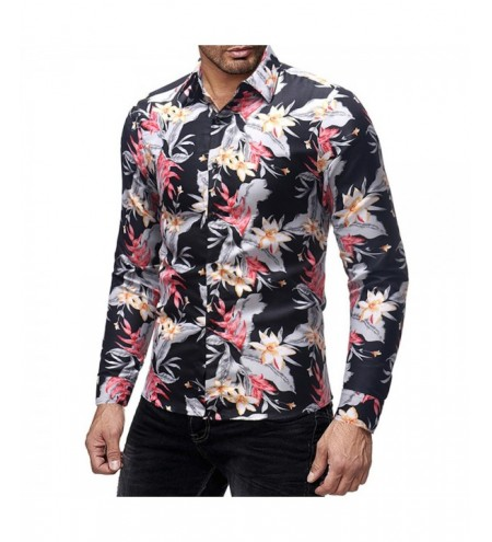 Flower Print Casual Long Sleeves Shirt