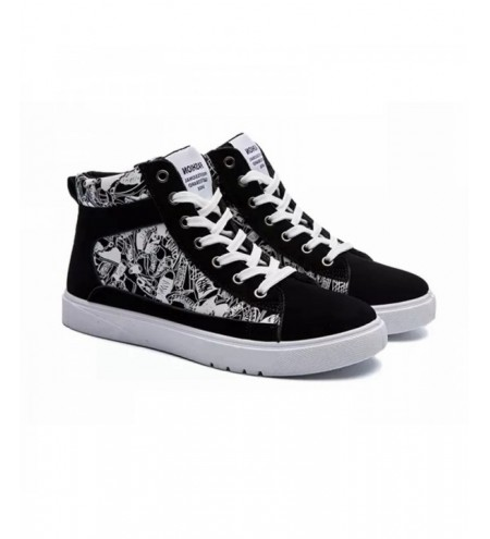 Men'S Lace Flat Printed Casual Shoes