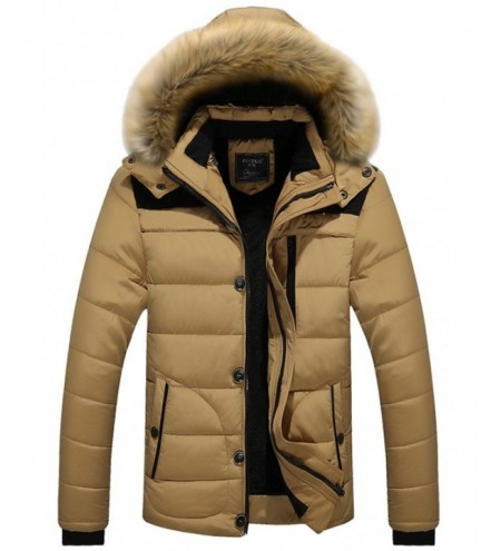 Faux Fur Hooded Zipper Padded Jacket