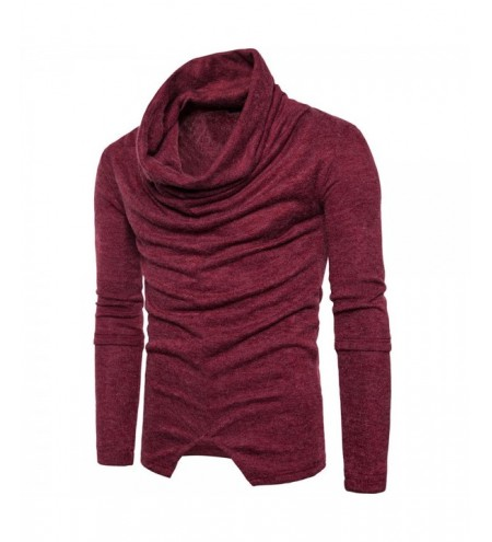 Piles Collar Long Sleeve Asymmetric Sweater