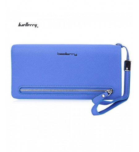 Baellerry Lady Elegant Solid Color Letter Multi-card Bit Wrist Wallet Clutch Card Holder Phone Pocket