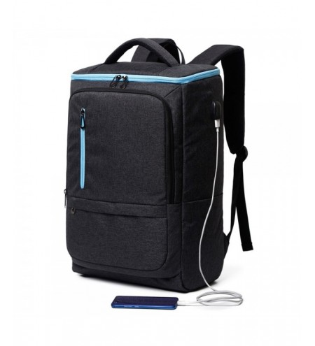 17 inch Men Water Resistant Backpack with USB Port Large Capacity Laptop Bag