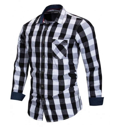 Button Up Checked Print Shirt