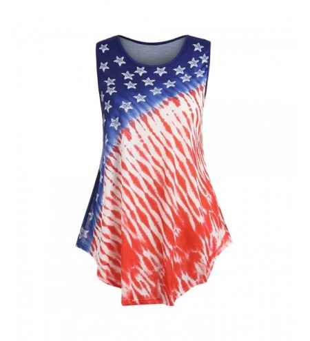 Plus Size Ombre American Flag Tank Top