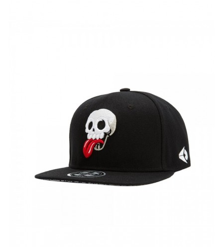 Wuke Fashion Adjustable Embroidered Skulls Baseball Cap Flat Hat