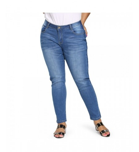 Plus Size Tight Denim Pants