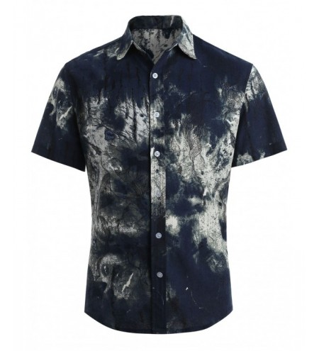 Ethnic Style Printed Button Up Shirt