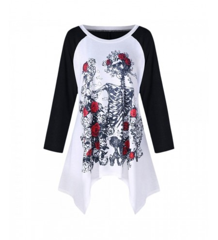 Plus Size Rose Skull T-shirt