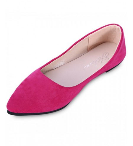 Fashionable Pointed Toe Suede Slip-on Women Flat Shoes