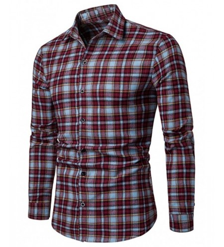 Plaid Print Casual Button Up Shirt