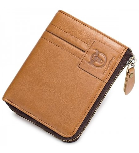 Stylish Retro Zipper Around Leather Wallet for Men