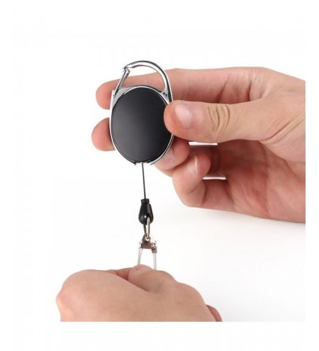 Black Retractable 60CM Extendable Zinc Alloy Wire Key Holder
