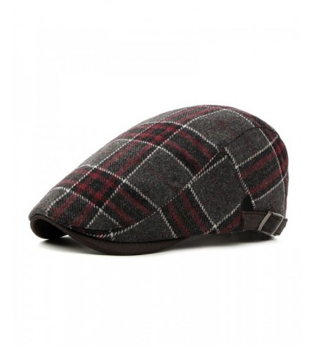 Simple Plaid Warm Cap + Free Size for 56-59cm