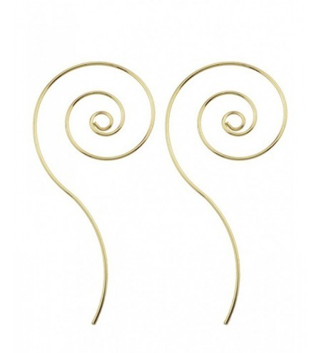 Metal Spiral Hoop Earrings