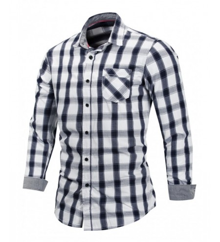 Checked Button Fly Long Sleeve Shirt