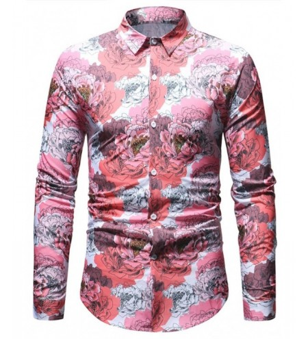 Flowers Printed Long Sleeve Shirt