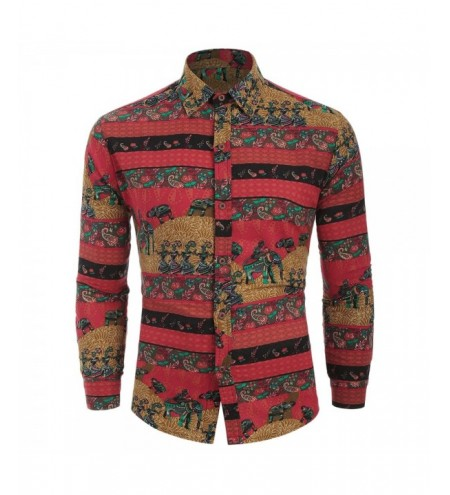 Ethnic Tribal Print Long Sleeves Shirt