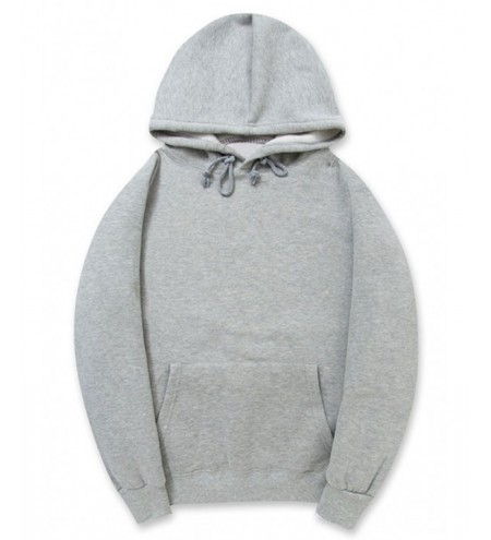 Pullover Kangaroo Pocket Fleece Solid Color Hoodie