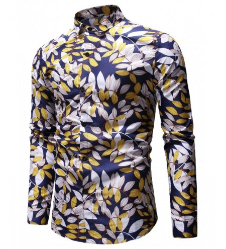 Leaves Branch Print Casual Shirt