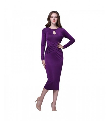 Long Sleeves Tight Formal Dress