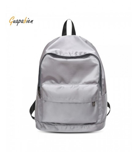 Guapabien Lady Casual Style Solid Color Simple Design Girl Backpack