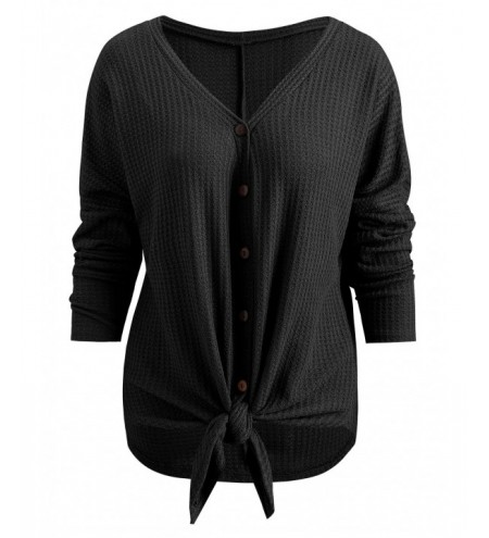 Drop Shoulder V Neck Blouse