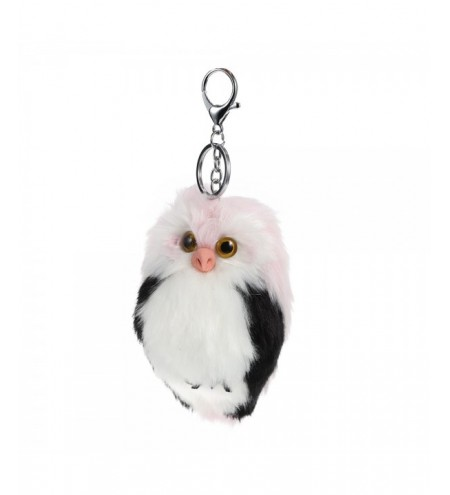 Lovely Owl Style Artificial Rabbit Fur Keychain