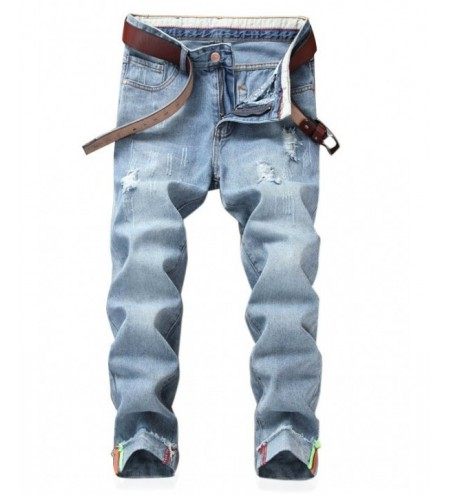 Zipper Fly Vivid Stripe Nine Minutes of Jeans