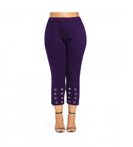 Plus Size Grommet Embellished Pants