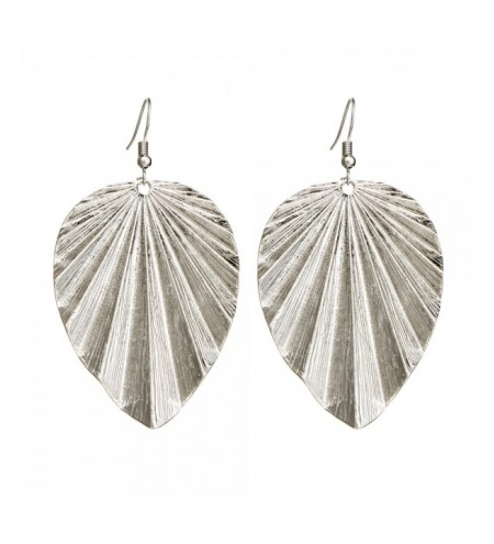Fashion Woman Big Leaf Earrings